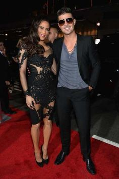 #PaulaPatton and #RobinThicke attend the premiere of Fox Searchlight Pictures' 'Baggage Claim' at #RegalCinemas L.A. Live on September 25, 2013  http://celebhotspots.com/hotspot/?hotspotid=5495&next=1
