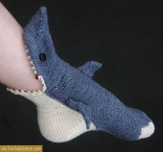craft, patterns, stuff, socks, knit, shark sock, sharks, shark week, thing