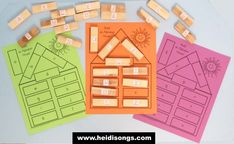 ABC Jenga Block House- FREE download! Great learning center!  #alphabet