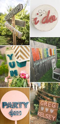 A crafty retro classic! String art table numbers and table plans for wedding decor | www.onefabday.com