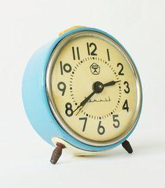 Vintage mechanical alarm clock Vitjaz from Russia Soviet Union. Favorite desk clock *ever* $35