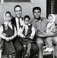 Malcolm X + Muhammad Ali