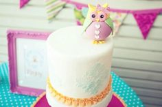 Owl Birthday Cake #owl #birthday #cake