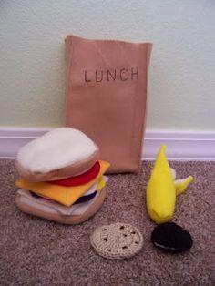 Felt Food sack lunch (and more felt food ideas)