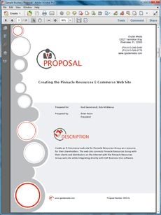 Web Site Creation and Software Integration Project - Create your own custom proposal using the full version of this completed sample as a guide with any Proposal Pack. Hundreds of visual designs to pick from or brand with your own logo and colors. Available only from ProposalKit.com (come over, see this sample and Like our Facebook page to get a 20% discount)