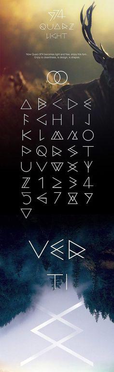 QUARZ 974 Light - Free Font. So PNW.