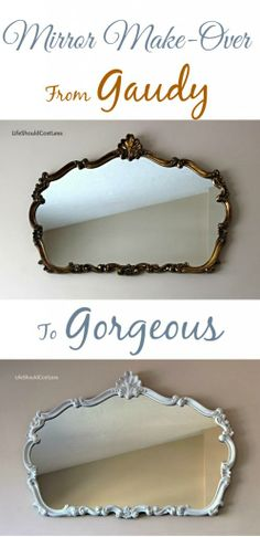 Mirror make-over with Americana Decor Chalky finish paint.