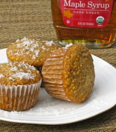 Coconut Maple Syrup Muffins  @Jaime's Clean Food Kitchen