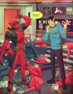 Deadpool Invades the STAR TREK Universe - Red Shirts Beware! - News - GeekTyrant