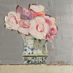 pink roses, floral paintings, mhairimcgregor, oil painting flowers, flower paintings, gallery walls, mhairi mcgregor, artist, artwork