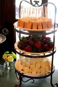 fondue party bar, yum! @Bernadette Folwarczny Pixton are you ready for this next Sunday?! Okay, it won't look this fancy:)