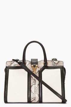 YSL Ivory Python Leather Chyc Bag.
