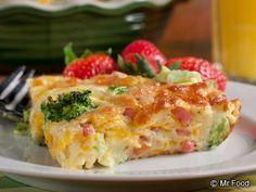 Broccoli and Ham Quiche - We've got Easter brunch all figured out!