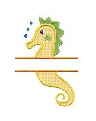 Split Seahorse Applique - 3 Sizes! | Font Frames | Machine Embroidery Designs | SWAKembroidery.com Applique for Kids