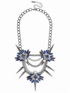 this Spiked Lily Necklace has all the edge you'll need to complete your look