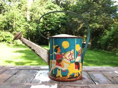 Vintage Children's Toy Watering Can  Child by YouBetYourGlassEtc, $30.00