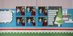 Merry & Bright Be Merry Christmas Scrapbook Layout Page Idea from Creative Memories. Limited edition products!