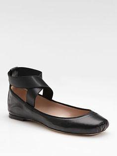 Chloé Square-Toe Ballet Flats