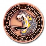 466th Fighter Squadron 3D Coin
