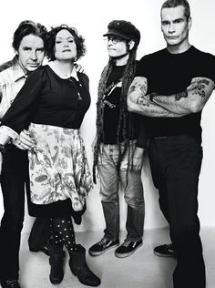 John Doe and Exene Cervenka of X, Keith Morris of Black Flag and Circle Jerks, and Henry Rollins of Black Flag communisteyes