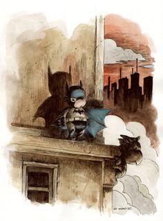 Gotham Ledge by Charles Paul Wilson III ~cpwilsoniii on deviantART
