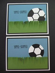 Soccer Ball card using the Hexagon Hive Thinlits die