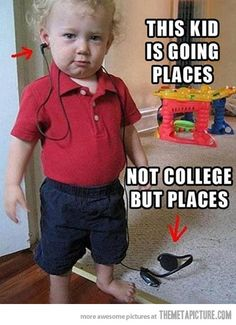 This little guy is going places… aww