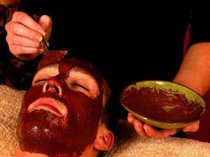 Chocolate ganache body scrub