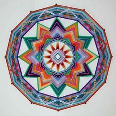 Wildflower Dance mandala  Ojo de Dios artist, Jay Mohler