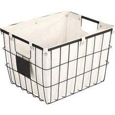 Fits in Ikea Expedit.  Better Homes and Gardens Medium Wire Basket with Chalkboard, Black.