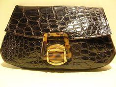 vintage art deco crocodile clutch
