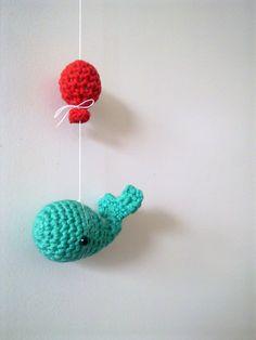 Flying Whale free crochet pattern by A la Sascha libraries, free pattern, fli whale, dutch, thought, balloons, la sascha, crochet patterns, amigurumi patterns
