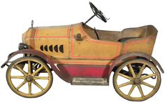 auction, paig ride, pedal cars, gendron paig, vintag pedal, spoke wheel, 1915 gendron, real wood, wood spoke