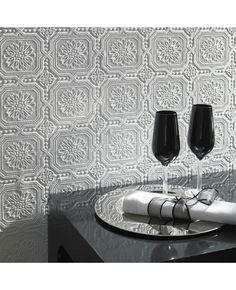 decor, kitchens, tin ceilings, squares, ceiling tiles, small squar, wallpapers, paintabl wallpap, hous