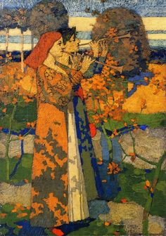 David Gauld (1865-1936)  Music in Japan, 1888, oil on canvas,   Hunterian Museum and Art Gallery (Scotland)