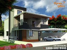 3 Bedrooms Duplex House Design in 276m2 (12m X 23m).  Like, share, comment. click this link to view more details - http://apnaghar.co.in/house-design-211.aspx Questions? Call Toll-Free No.- 1800-102-9440 Email: support@apnaghar.co.in #Duplexhouse #duplexhouseplan #duplexhousedesign