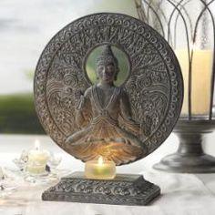 Serene Buddha Tealight #candle Holder