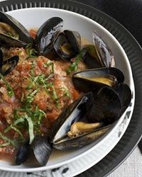 Tuscan Tomato Bread Soup with Steamed Mussels - Italian Soups from Food & Wine