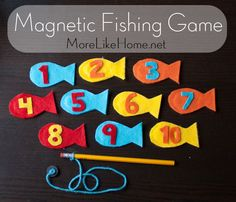 Magnetic Fishing Game Busy Bag - More Like Home