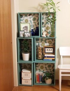 Good idea for drawers left over from re-purposed dresser.