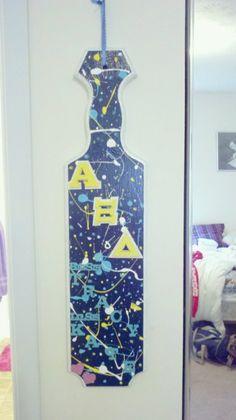 Alpha Xi Delta: Splatter Paddle; fantastic