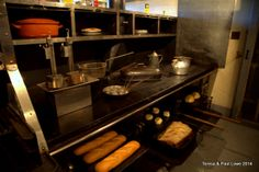 Fresh baked breads prepared daily in the massive castle kitchen