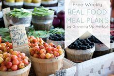 free weekly real food meal plans