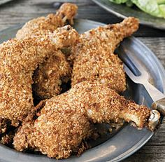 Oven-Fried Chicken Legs #comfortfood #recipe