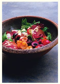Salad with cured pork and cherries from Nigel Slater's Ripe