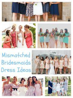 10 Gorgeous Examples of Mismatched Bridesmaid Dresses #wedding #ww #bridalfashion  http://www.surfandsunshine.com/mismatched-bridesmaid-dresses/