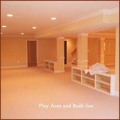 build the pole into built-in toy/book shelves