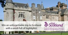 You could win an amazing trip to SCOTLAND for 2!  Read the sweepstakes offer for details. [[ I originally saw this on WomanFreebies.com, but their link doesn't work, so I looked until I found this! ]]  http://www.visitscotland.com/en-us/