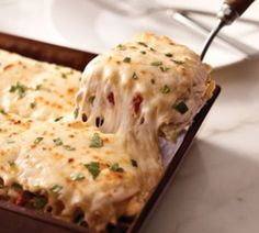 Creamy White Chicken and Artichoke Lasagna