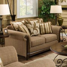 Loveseat with a traditional style from Simmons